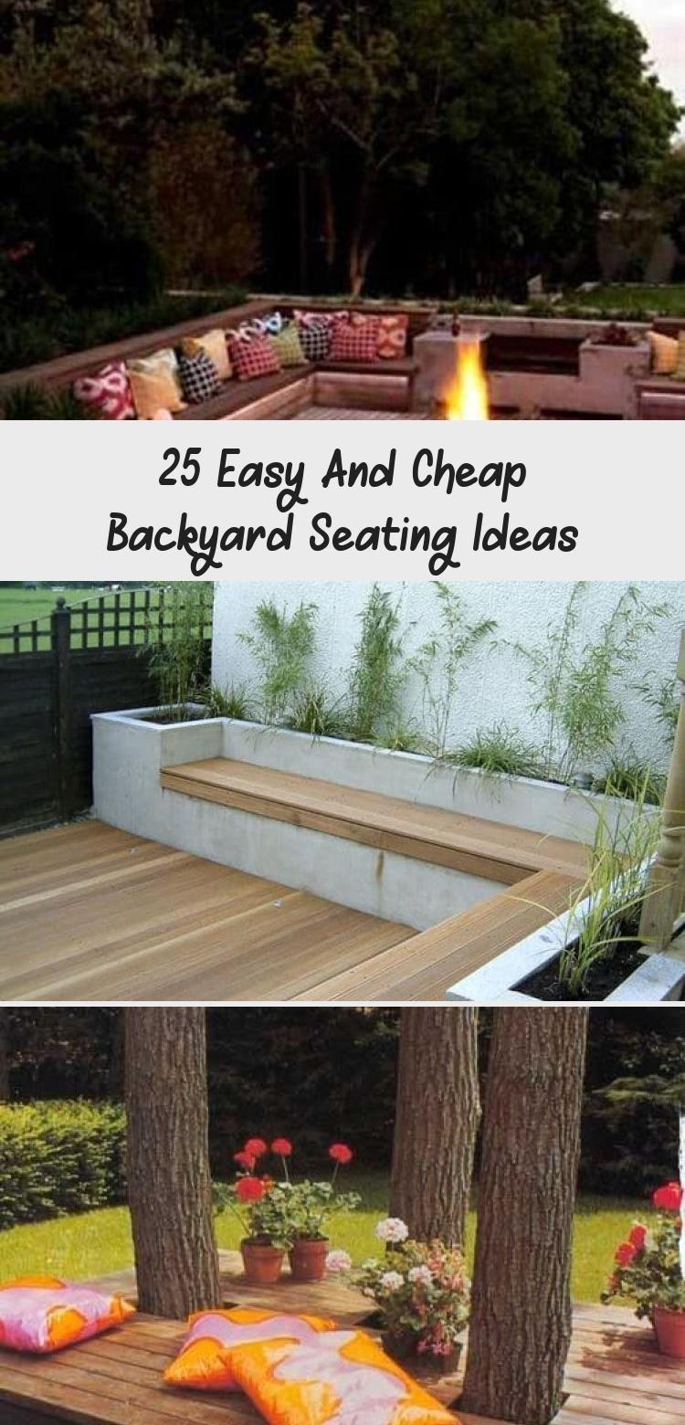 25 Easy And Cheap Backyard Seating Ideas In 2020 Cheap Backyard