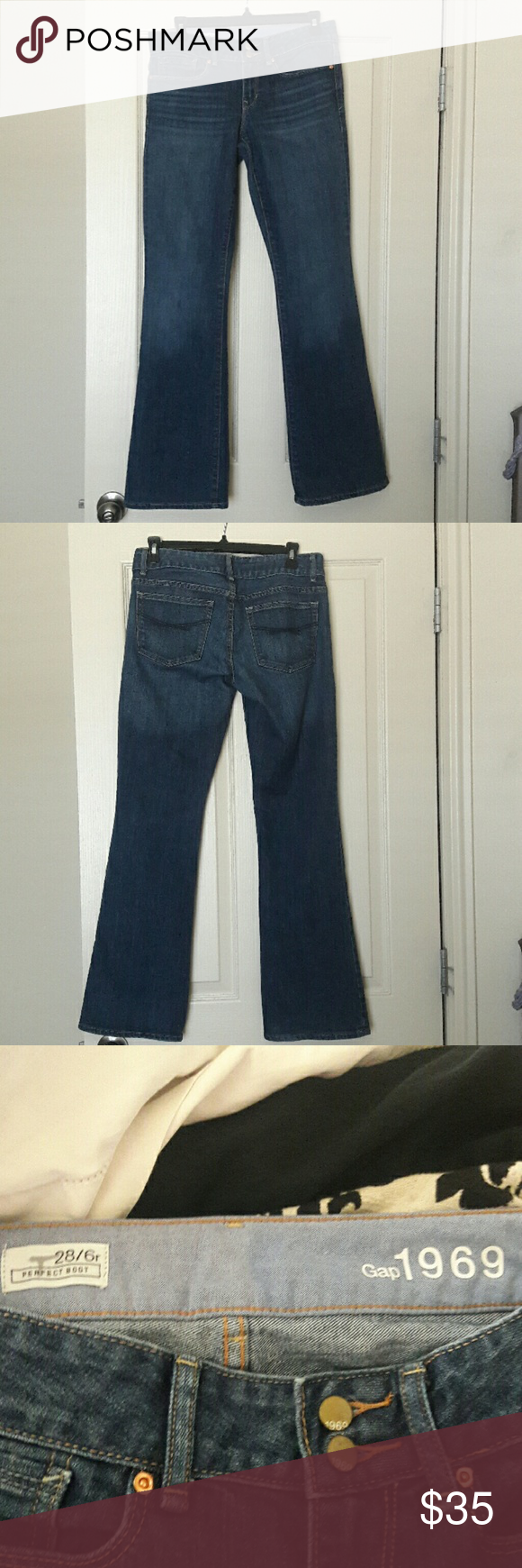 Gap Perfect Boot Jeans NWOT Brand new without tags gap jeans. Purchased and never wore ended up being too small for me. Any questions just ask! Gap Jeans Boot Cut