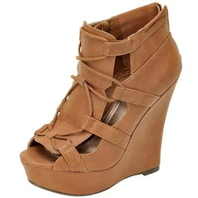 30a4dd46af8b BOOTIE WEDGE WITH OPENINGS Shoes Heels Wedges