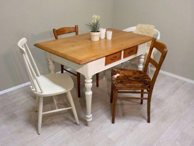 Schick schick und frisch aus der Werkstatt super schöner Esstisch - kleiner küchentisch mit 2 stühlen