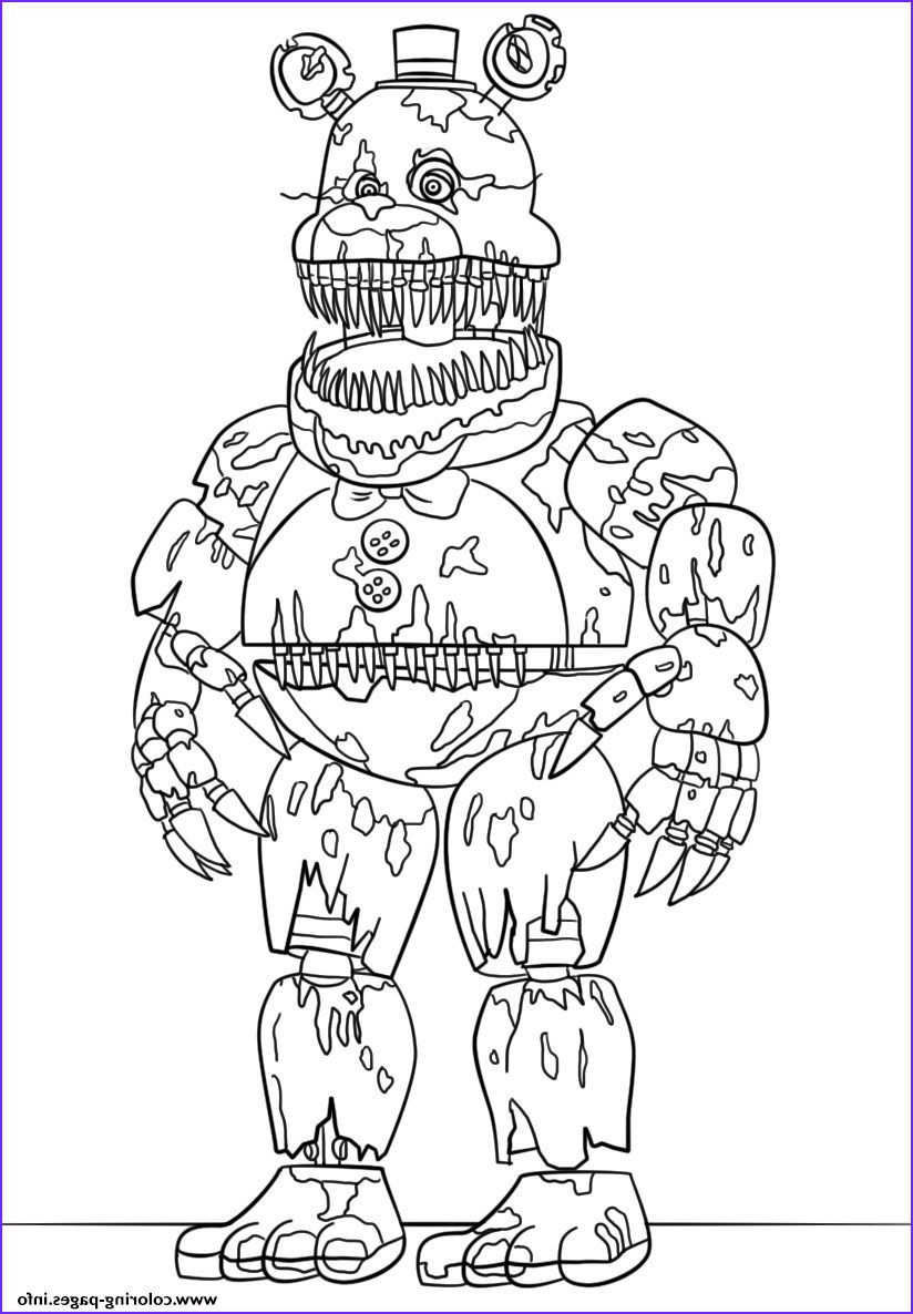 Print Nightmare Fredbear Scary Fnaf Coloring Pages In 2020 Fnaf Coloring Pages Animal Coloring Pages Coloring Pages