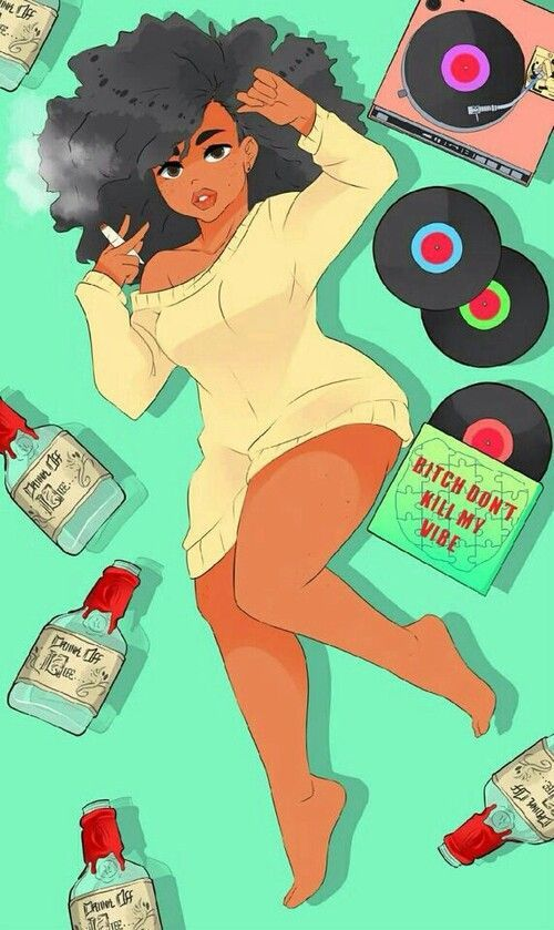 Lay Down And Chill Black Art Painting Black Love Art Black Girl Art