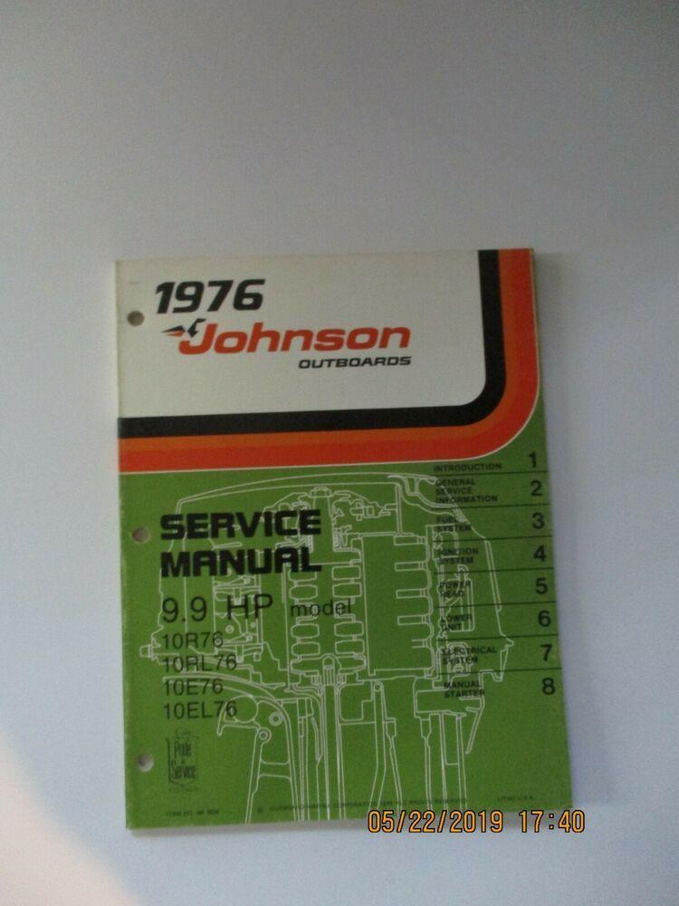 Johnson 9 9 Repair Manual