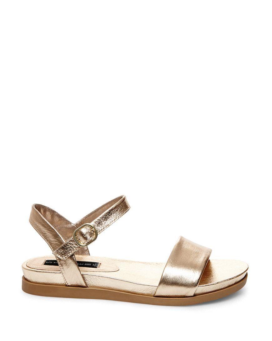 582f007091e STEVEN BY STEVE MADDEN Ankle Strap Sandals - Karli Metallic ...