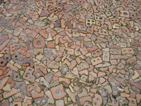 brick mosaic floor