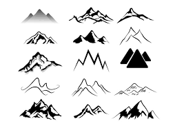 Pin By Sharon On Inkling Mountain Silhouette Silhouette Tattoos Mountain Drawing