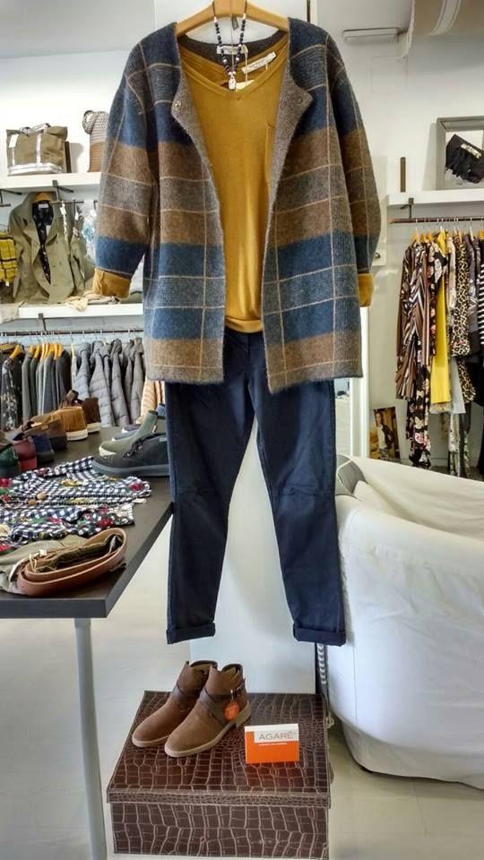 minorista online 6ad60 cce85 Abrigo de lana de cuadros de Nice Things, nos encanta ...