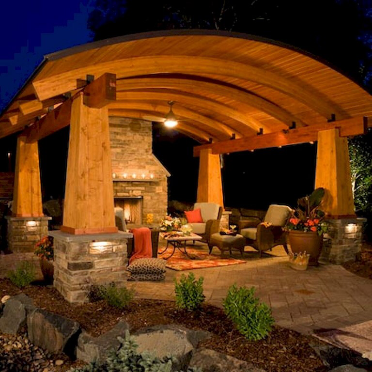 80+ Amazing Stylish Outdoor Living Room Ideas To Expand Your Living Space - Page 9 of 85 #backyardremodel