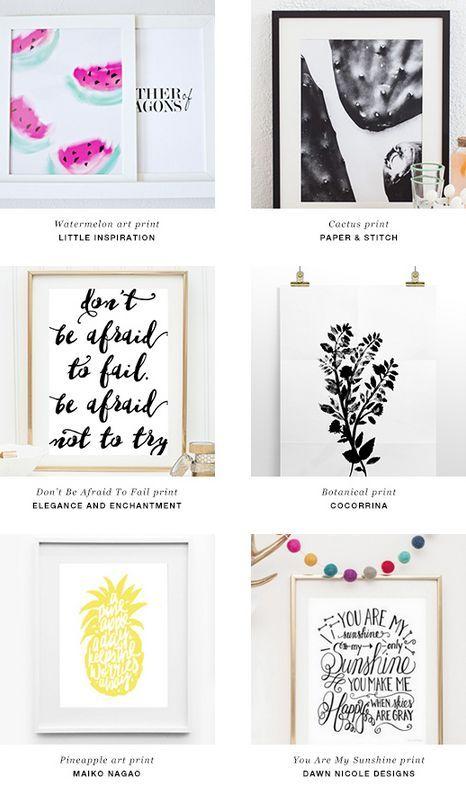 DIY: Free downloadable art prints | Imprimibles, Cuadro y Papelería