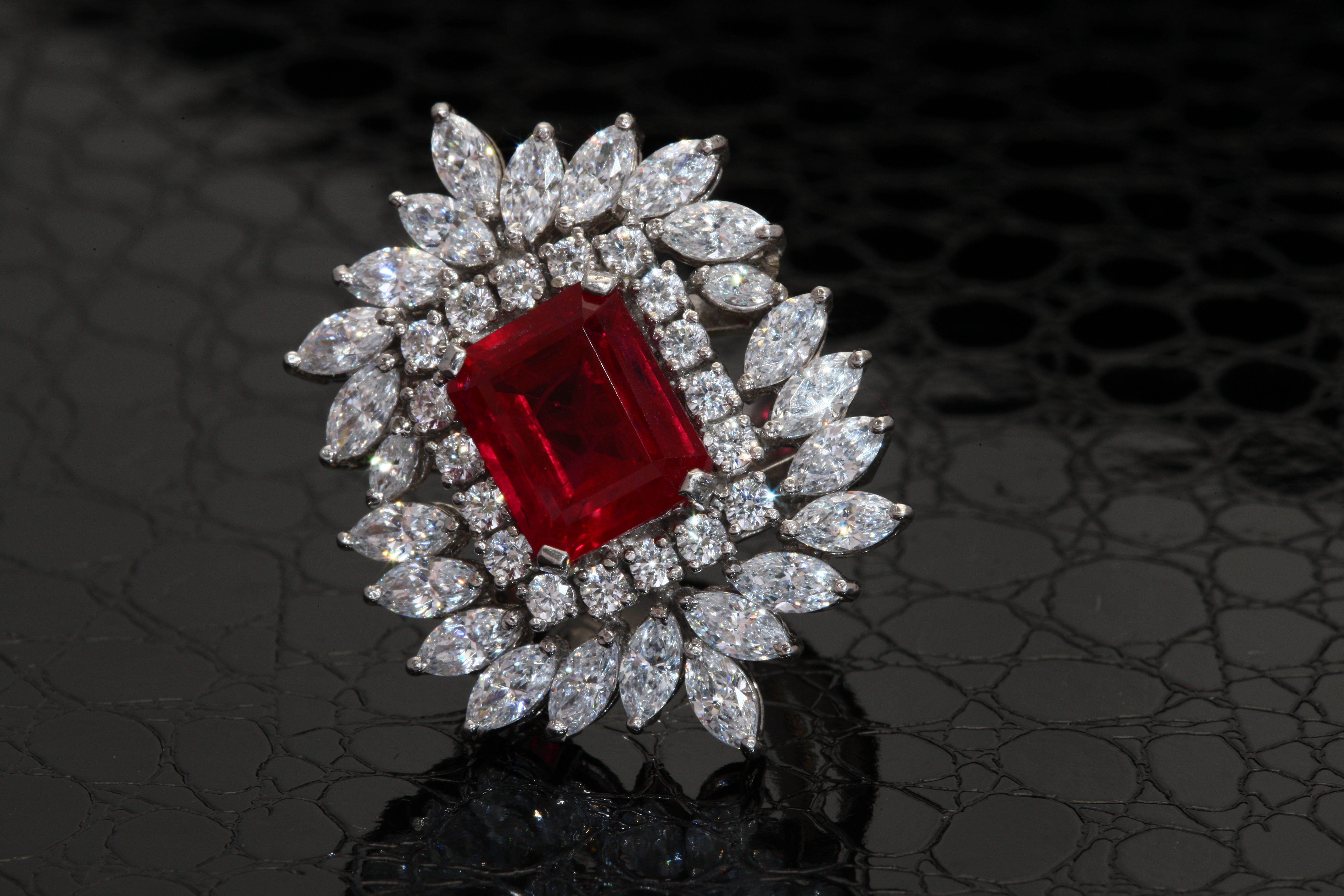 This #beautiful #DiosabyDarshanDave #cocktail #ring will make you feel like a princess! It presents a large, rectangular red stylized stone which plays with the light beautifully. The #SterlingSilver shank is adorned with brilliant cut and marquise-shaped #SwarovskiZirconia for a refined look. #makeeverydaybrilliant  #jewellery  #finejewellery #traveljewellery  #weddings #fashionwear #preciousjewellery  #luxejewellery  #dailywear #workwear  #casualwear #destinationweddings  #bridalwear