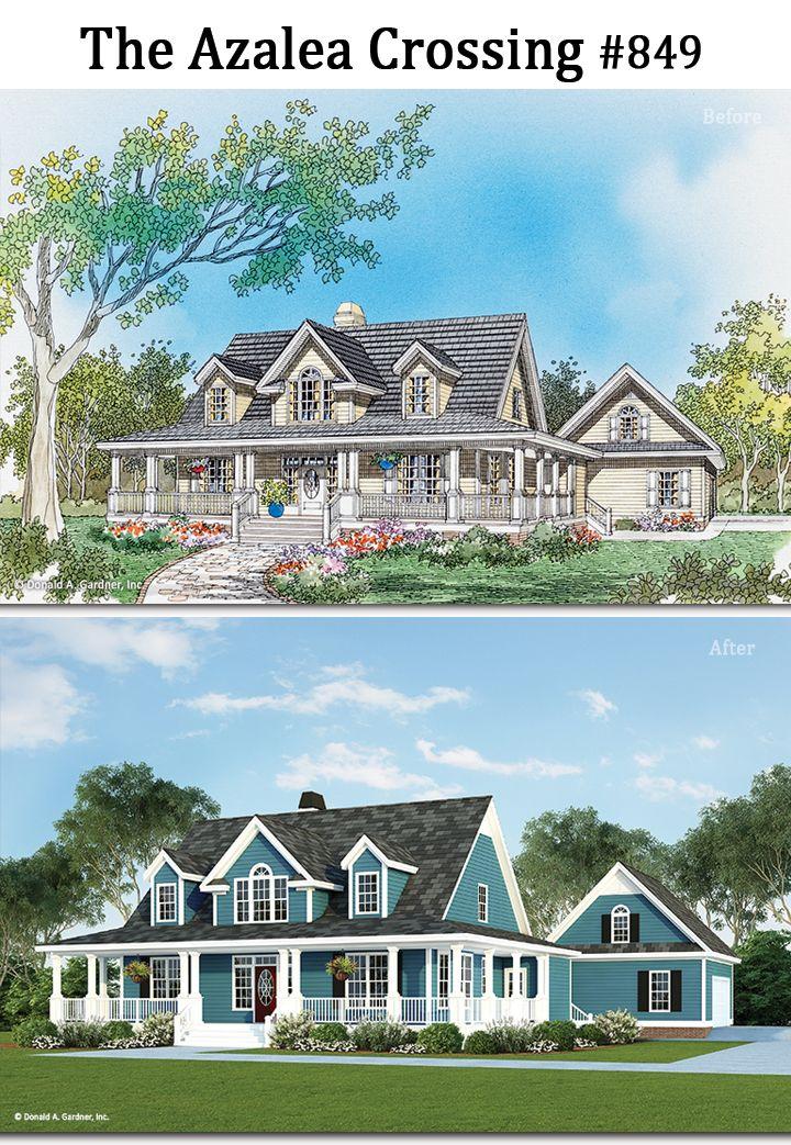 We Ve Brightened Up The Azalea Crossing Http Www Dongardner Com House Plan 849 The Azalea Crossing Ren Courtyard House Plans House Plans Dream House Plans