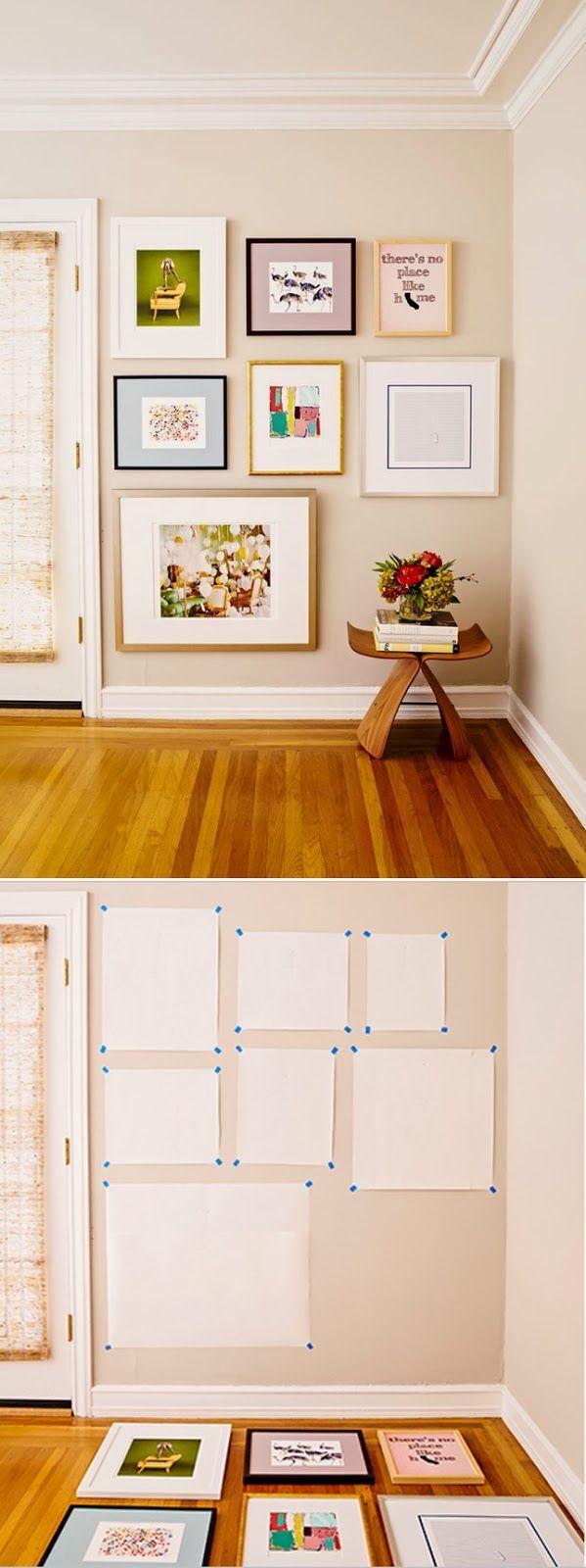 Cómo organizar cuadros para la pared  decoracion