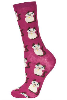 All Over Siamese Cat Ankle Socks