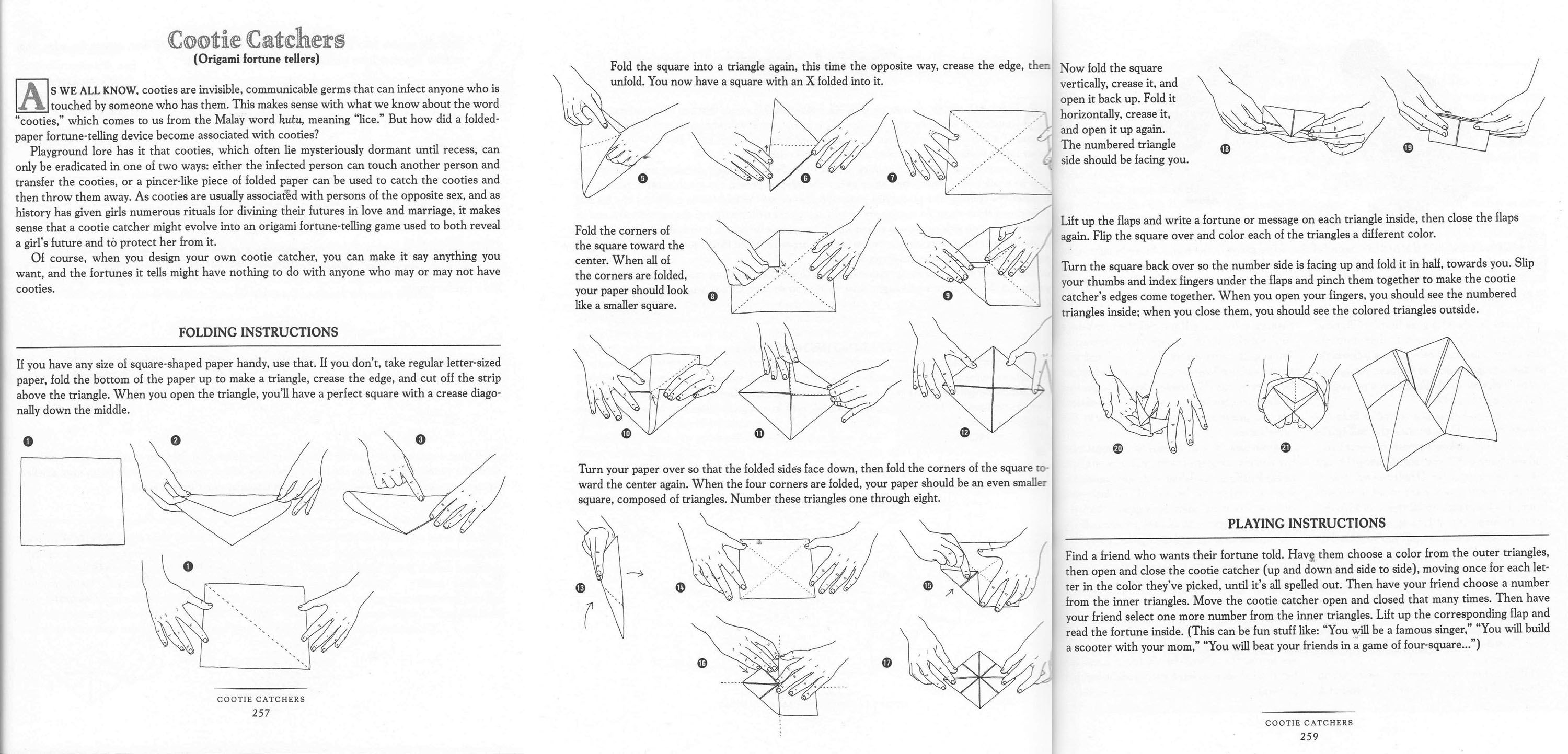 how to make a cootie catcher illustrations published in the daring book for girls how to. Black Bedroom Furniture Sets. Home Design Ideas