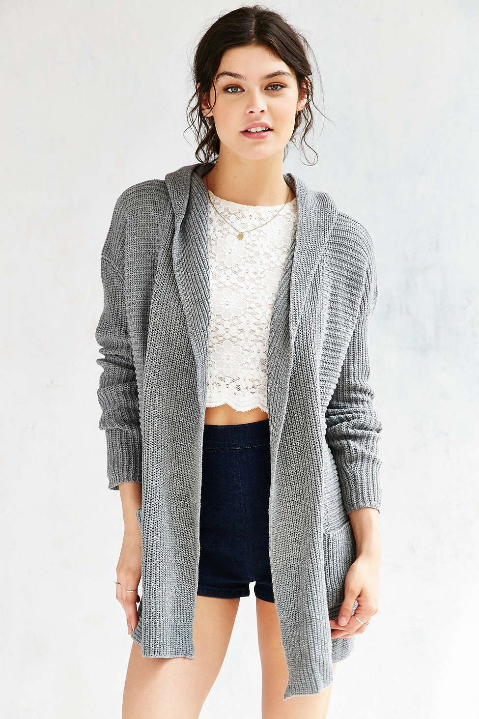 Kimchi Blue Dylan Hooded Cardigan #UrbanOutfitters | Urban ...