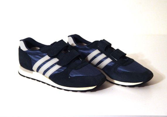 19741893f06 Vintage 80s joggers running shoes mens 8 jox adidas velcro new | 80s ...
