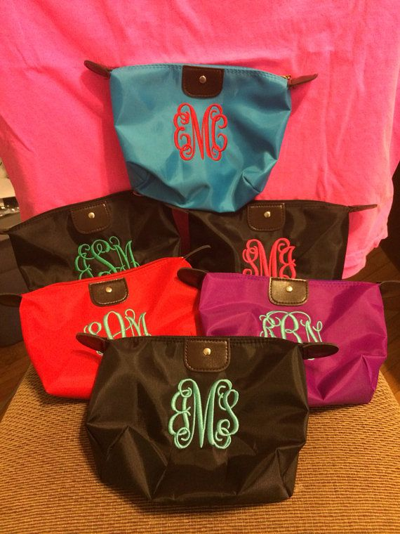 Longchamp Inspired Monogram Makeup Bags by SouthernGoldBoutique, $22.99