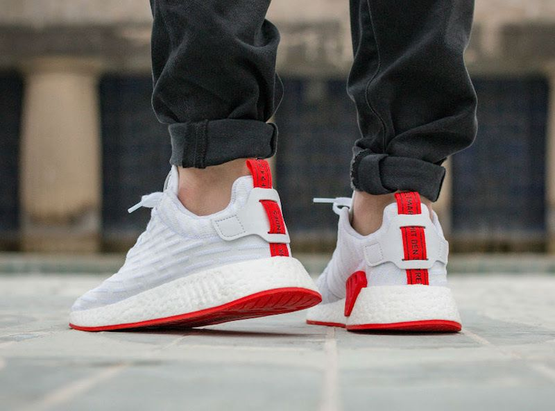 Deportista ensayo enaguas  The adidas NMD R2 White Red Is Dropping Soon • KicksOnFire.com | Adidas nmd  r2, Adidas nmd, Adidas originals nmd