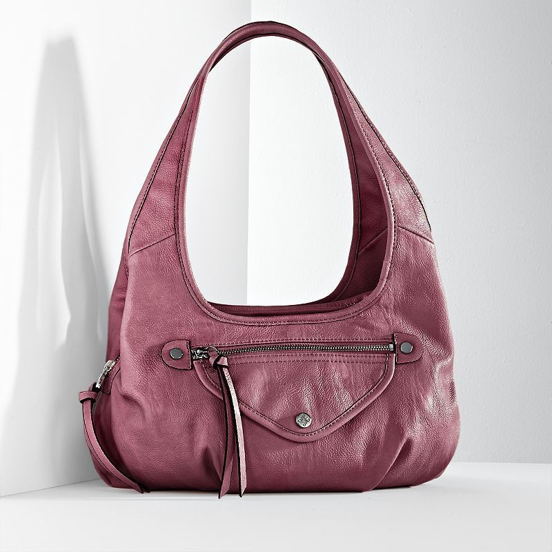 76a045a71cbb Simply Vera Vera Wang Sidekick Rose Metallic Satchel