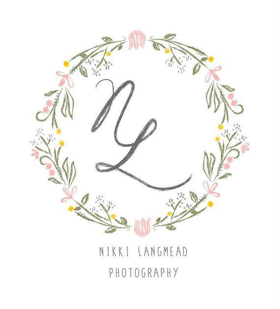 Wedding Branding Ideas: Custom Logo Design Vintage Hand Drawn Feel Pretty
