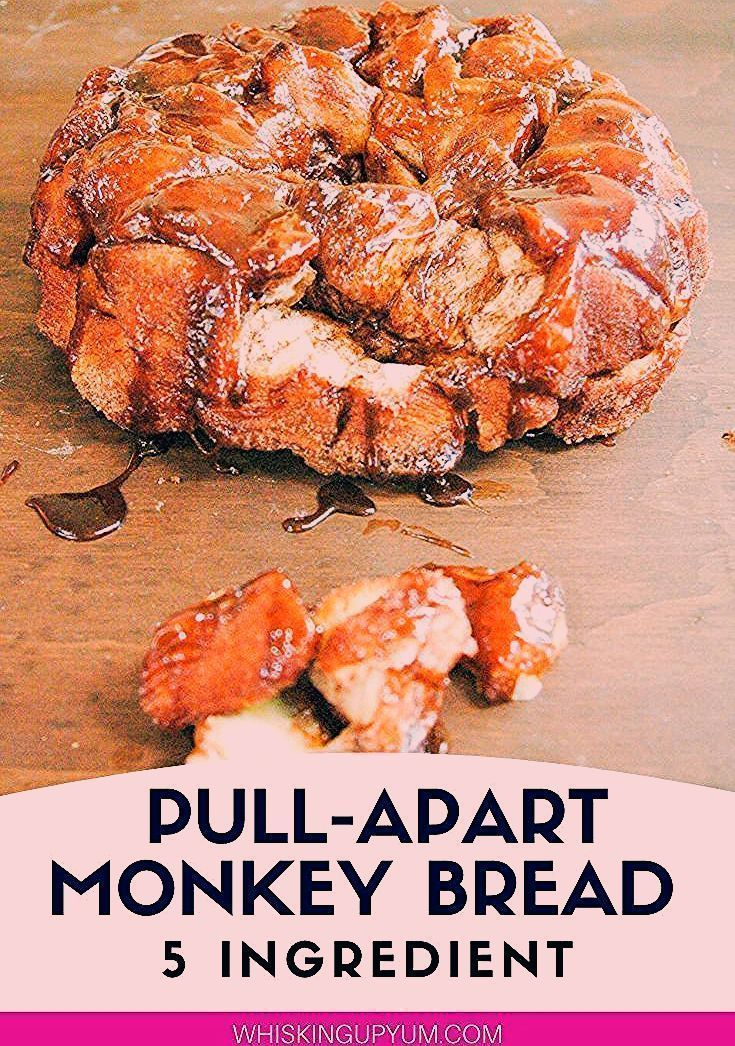This pull-apart monkey bread is so easy to make with only five ingredients! | Monkey bread with canned biscuits | monkey bread easy | monkey bread recipe | easy breakfast ideas | easy breakfast desserts | homemade baking recipes | baking recipes for beginners #monkeybreadwithcannedbiscuits This pull-apart monkey bread is so easy to make with only five ingredients! | Monkey bread with canned biscuits | monkey bread easy | monkey bread recipe | easy breakfast ideas | easy breakfast desserts | home