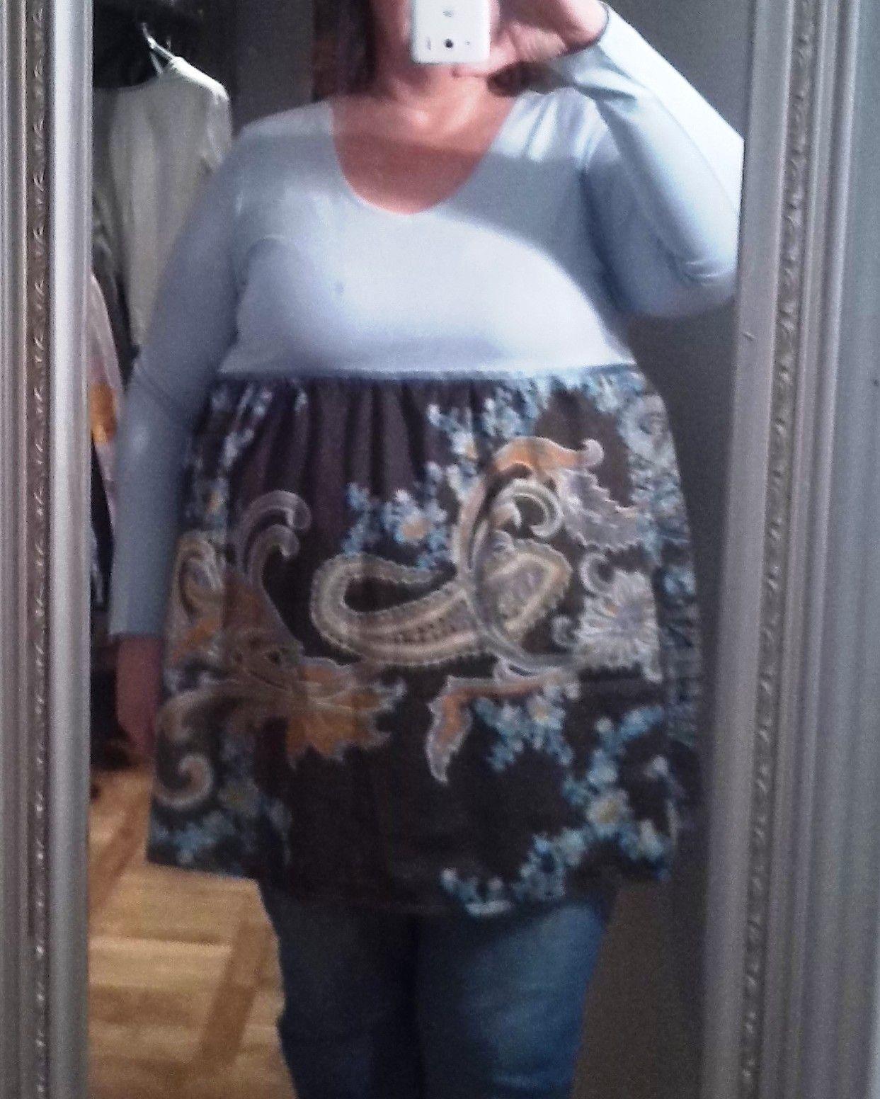 diy fashion for big size - nähen für XXL long-sleeve in hellblau mit ...