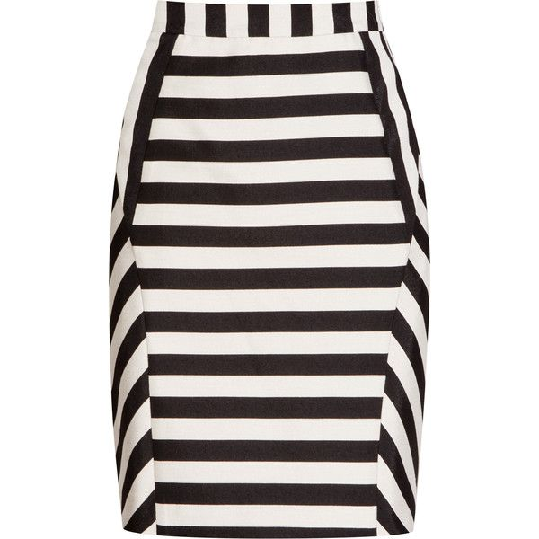 9074342fd0 Karis BLACK/WHITE STRIPED PENCIL SKIRT ❤ liked on Polyvore featuring skirts,  black and white pencil skirt, pencil skirt, stripe pencil skirt, striped  skirt ...