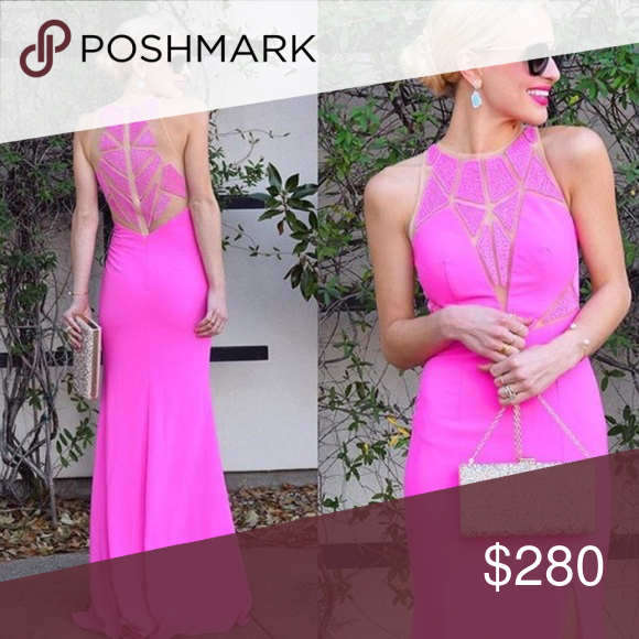 Perfect Condition Camilla long evening gown Pink camille gown ...