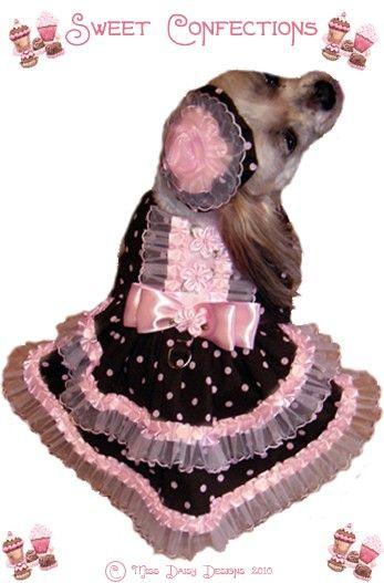 Dog Harness Dress Pattern Cupcake Hat Size Small Pdf Dog