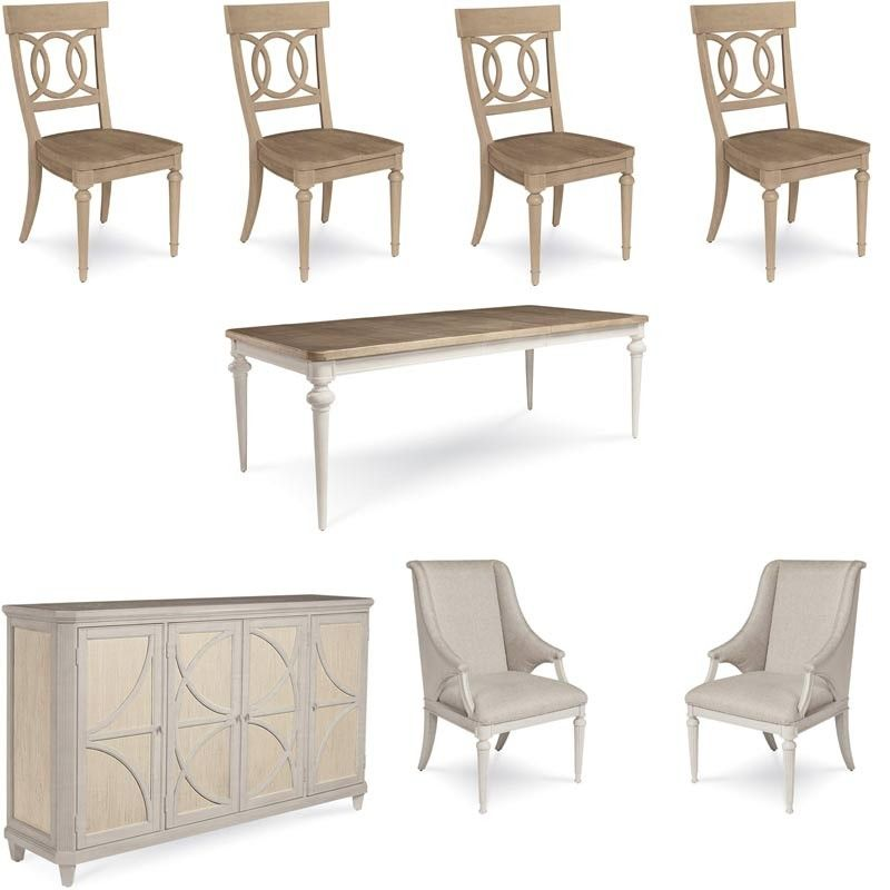 Art Furniture  Roseline Brown Lucy 8 Piece Dining Room Set Mesmerizing 8 Pc Dining Room Set Review
