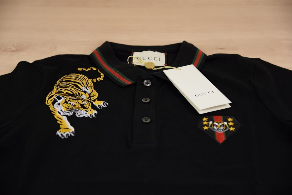 352f9b21286 GUCCI POLO T SHIRT FOR MEN BRAND NEW COLOR BLACK SIZE S GENUINE LOGO ON   fashion  clothing  shoes  accessories  mensclothing  shirts (ebay link)