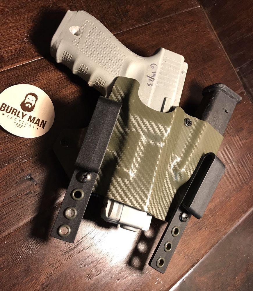 Glock 19 23 G19 Burly Man Tactical Kydex SideCar Holster Magazine ...