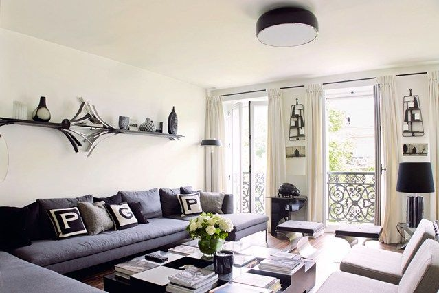 Monochrome design monochrome color living rooms and room for Monochromatic living room ideas