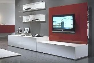 Mueble para lcd tv led modular living comedor con panel for Muebles bibliotecas para living