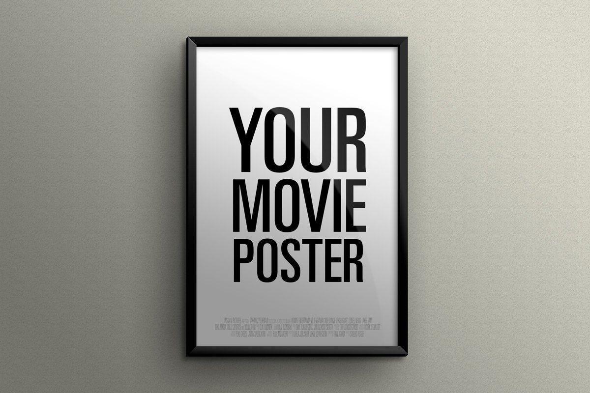 Theatrical Movie Poster Mockup Poster Mockup Postcard Mockup Brochure Design Template