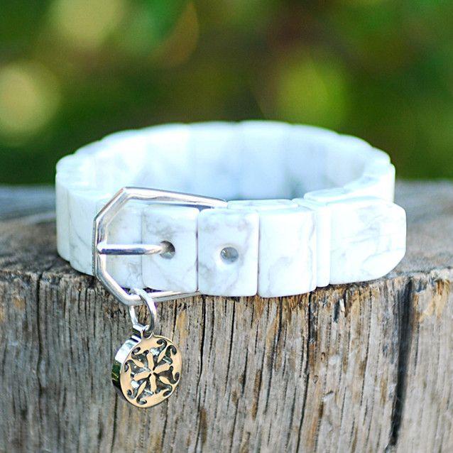 Charay Howlite Wrap Bracelet Rustic Cuff Love