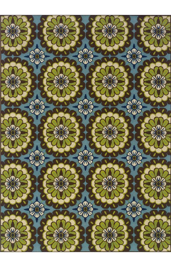 $209, Oriental Weavers Sphinx Caspian Outdoor 8328 Blue Rug