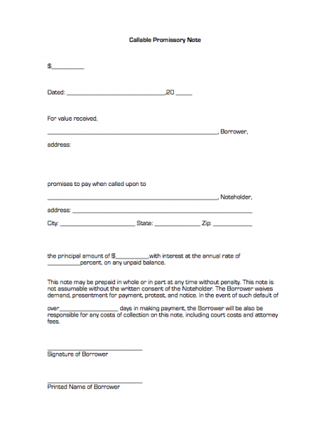 Blank Promissory Note Form | template | Pinterest | Promissory note ...