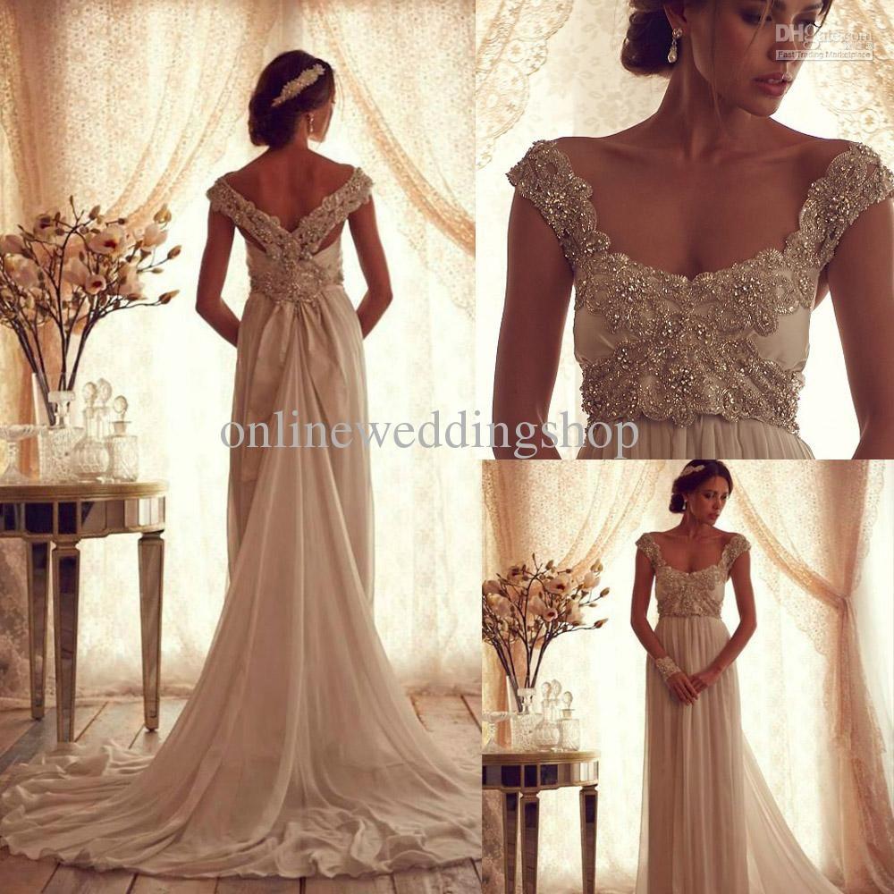 Winter Luxury Anna Campbell Gossamer Wedding Dress With