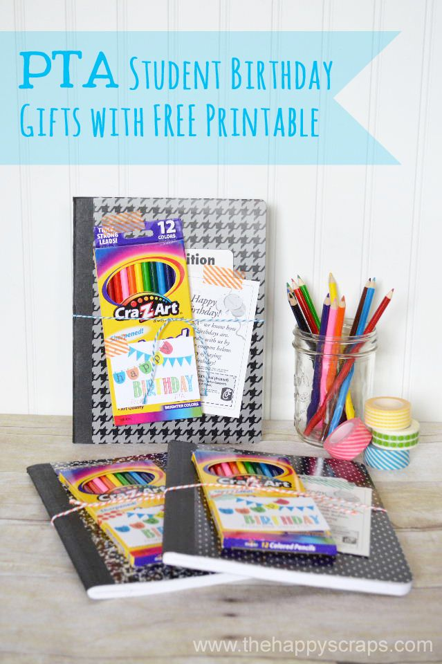 The Happy Scraps Student Birthday Gifts With Printable