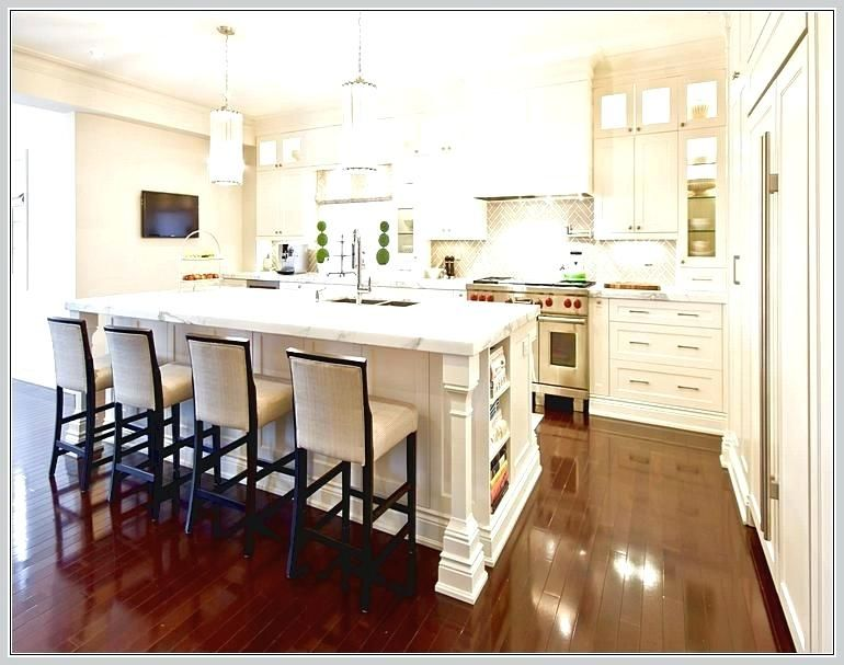 Fancy Kitchen Island With Bar Height Seating Illustrations New