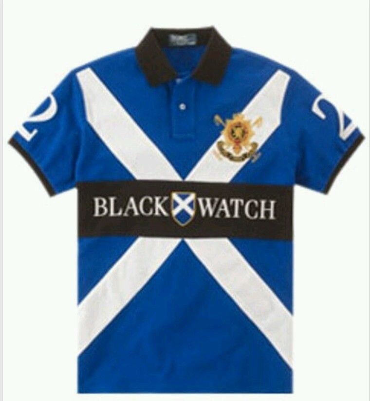 Ralph Lauren Custom Cross Black Watch Polo Shirt - Royal Blue - NWT ... d6f2ae4d189