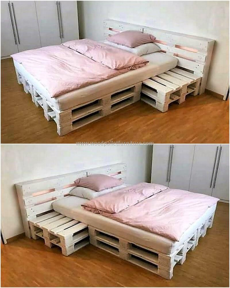 simple bed made with pallets palety pinterest bett schlafzimmer und europaletten m bel. Black Bedroom Furniture Sets. Home Design Ideas