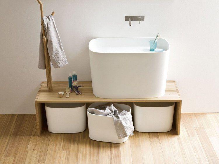 banc salle de bain un petit meuble avantageux et distingu sdb pinterest bathroom. Black Bedroom Furniture Sets. Home Design Ideas