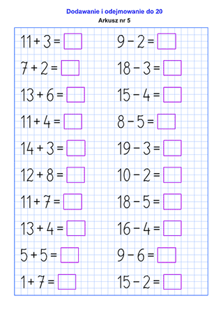 Generator Arkuszy Dzialania W Pamieci Superkid First Grade Math Worksheets Math Worksheets Kindergarten Math Worksheets