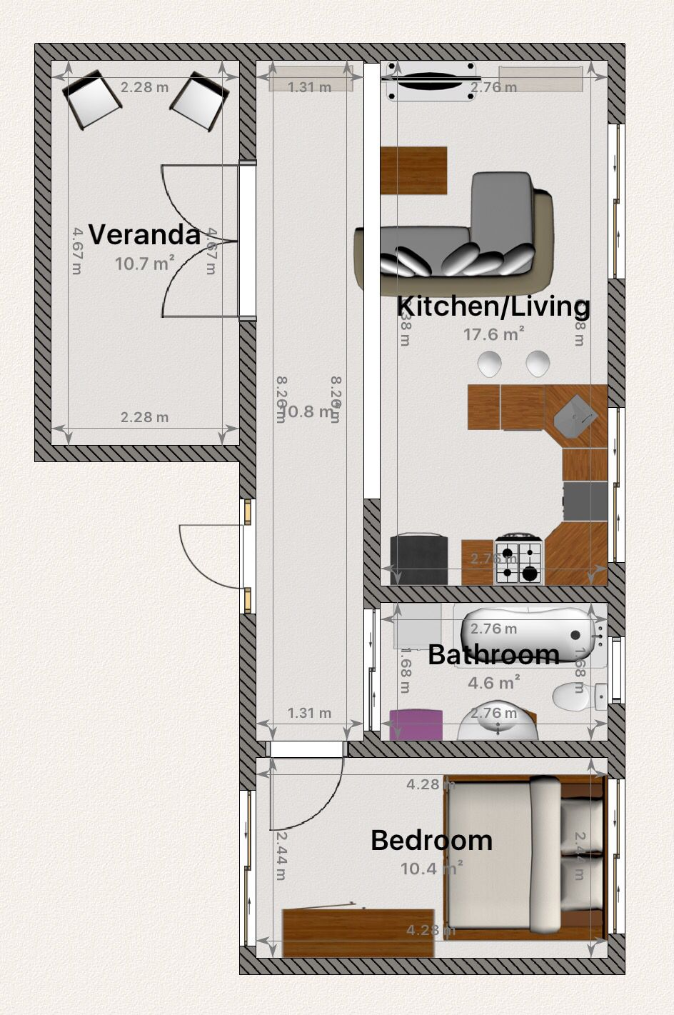my dream tiny house floor plan complete with french doors that my dream tiny house floor plan complete with french doors that lead to covered veranda