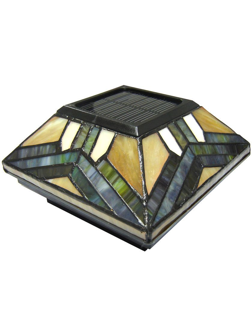Stained Glass Solar Post Cap Lights 4x4 Or 5x5 Solar Post Cap