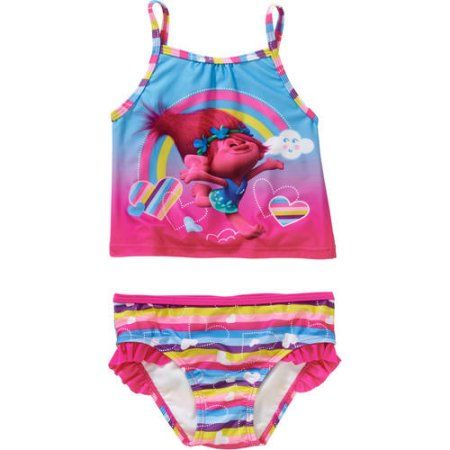 913bdcb8b7 Trolls Toddler Girl Tankini 2-piece Swimsuit