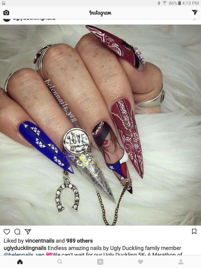 Pin by Marijeta Čollaku on Nails   Pinterest   Stiletto nail art ...