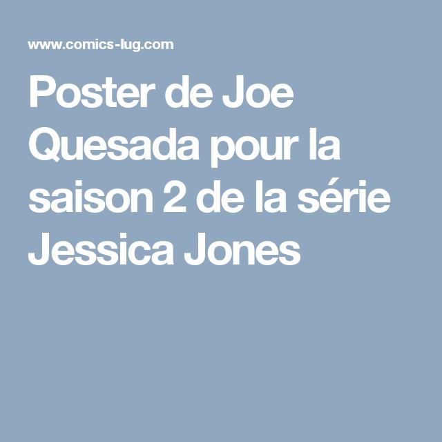 Poster de Joe Quesada pour la saison 2 de la série Jessica Jones